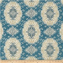 Tempo Indoor/Outdoor Tribal Medallion Blue Fabric