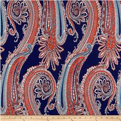 ITY Knit Paisley Blue/Orange