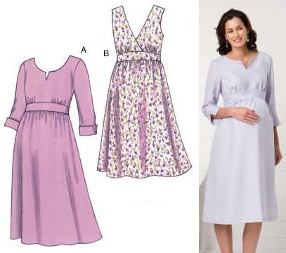 Kwik Sew Maternity Empire Dress Pattern