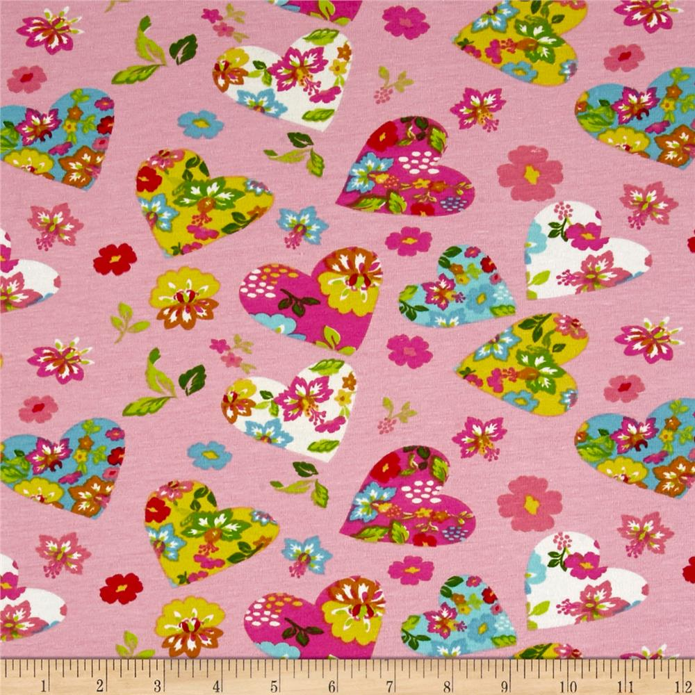 Stof France Jersey Knit Hearty Rose Fabric
