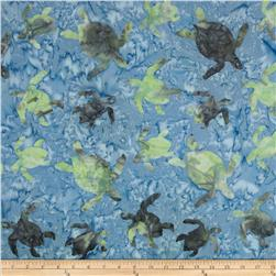 Timeless Treasures Tonga Batik Pacifica Sea Turtles Blue