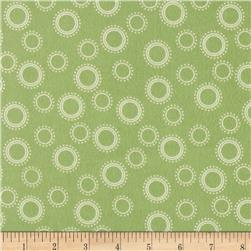 Cozy Cotton Flannel Geo Dots Pistachio Fabric
