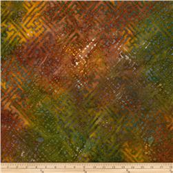 Indian Batiks Grid Orange/Rust