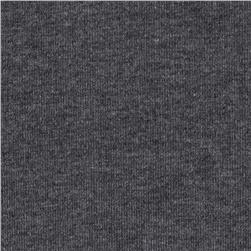 Brushed Baby Rib Knit Heather Dark Grey