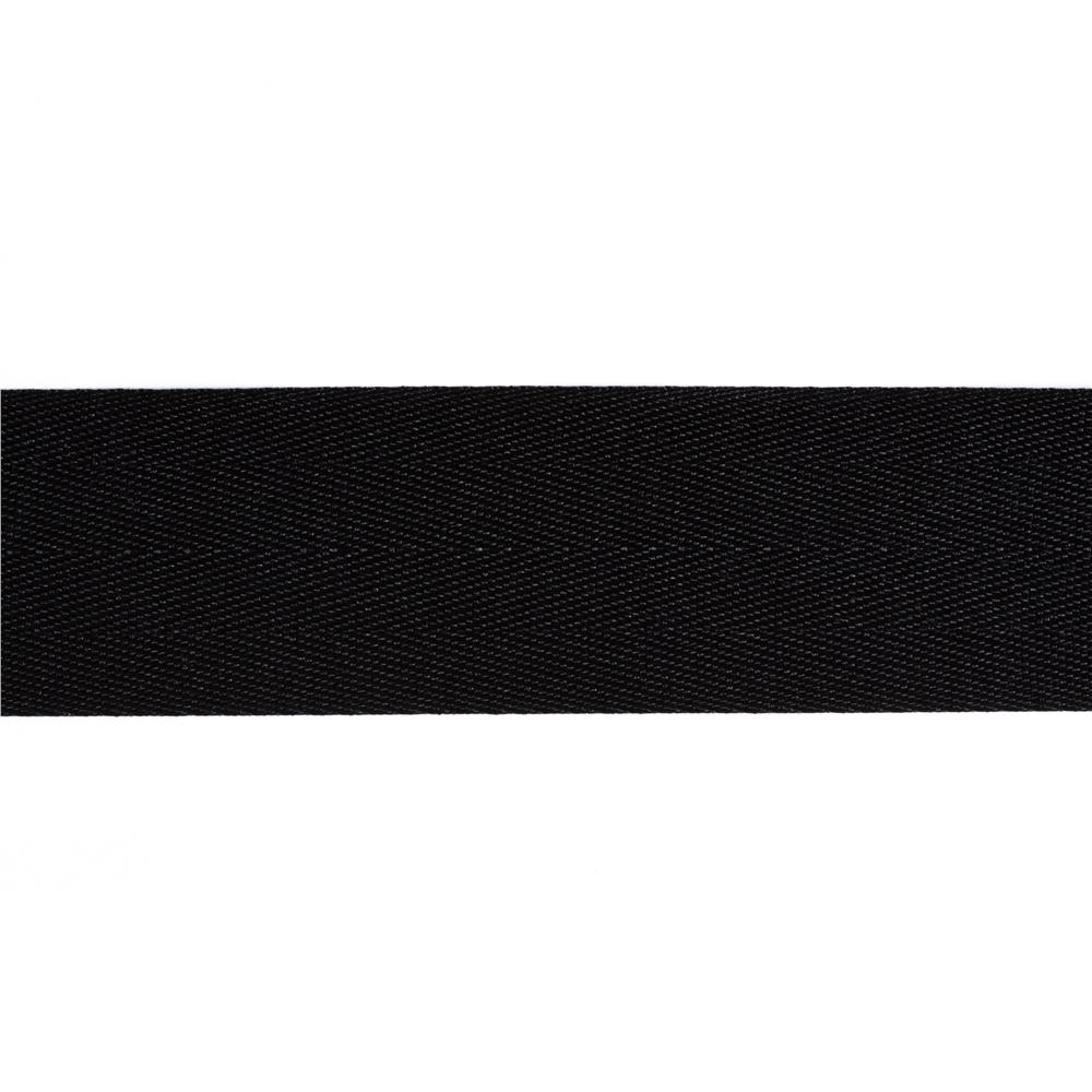 1 1/2'' Twill Tape Ribbon Black