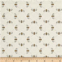 Moda Bee Inspired Bumblebee Lattice Laurel White