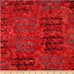 Lonni Rossi Batiks Handwriting Flame