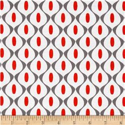 Riley Blake Mod Studio Wallpaper Red