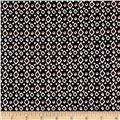 Telio Monaco Stretch ITY Knit Ikat Dot Print Black/Red