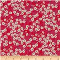 Liberty Of London Tana Lawn Mitsi Red/Hot Pink/White