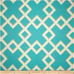 Dwell Studio Sunbrella Cross Lane Turquoise Fabric