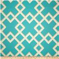 Dwell Studio Sunbrella Cross Lane Turquoise