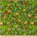 Teenage Mutant Ninja Turtles Flannel Heroes In a Half Shell Green