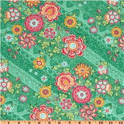 Amy Butler Lark Glamour Heirloom Jade Green Fabric
