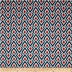 Premier Prints Archery Twill Navy/Coral
