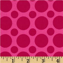 Kaufman Spot On Large Dot Pomegranate Fabric