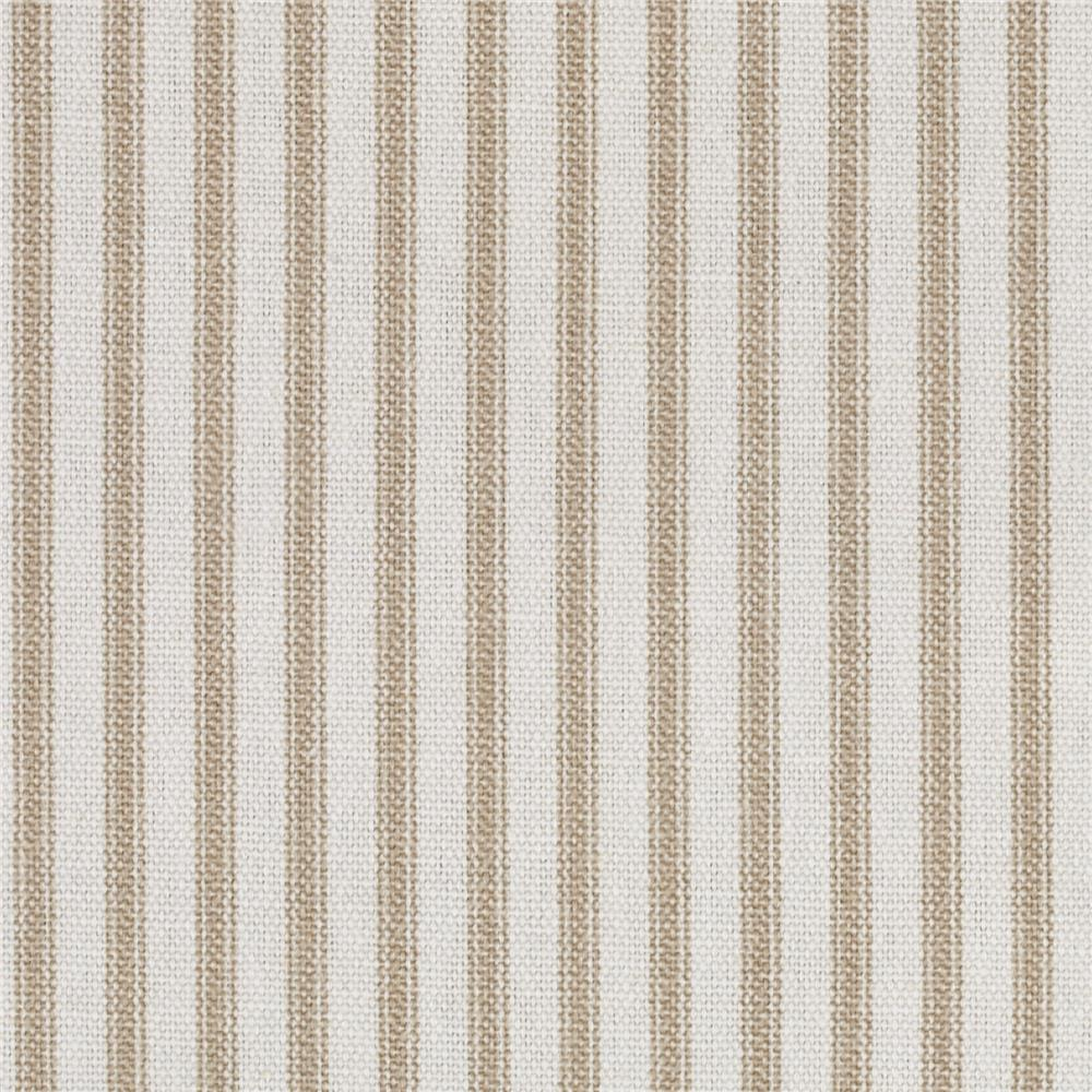 Cotton Duck Stripes Cream Tan