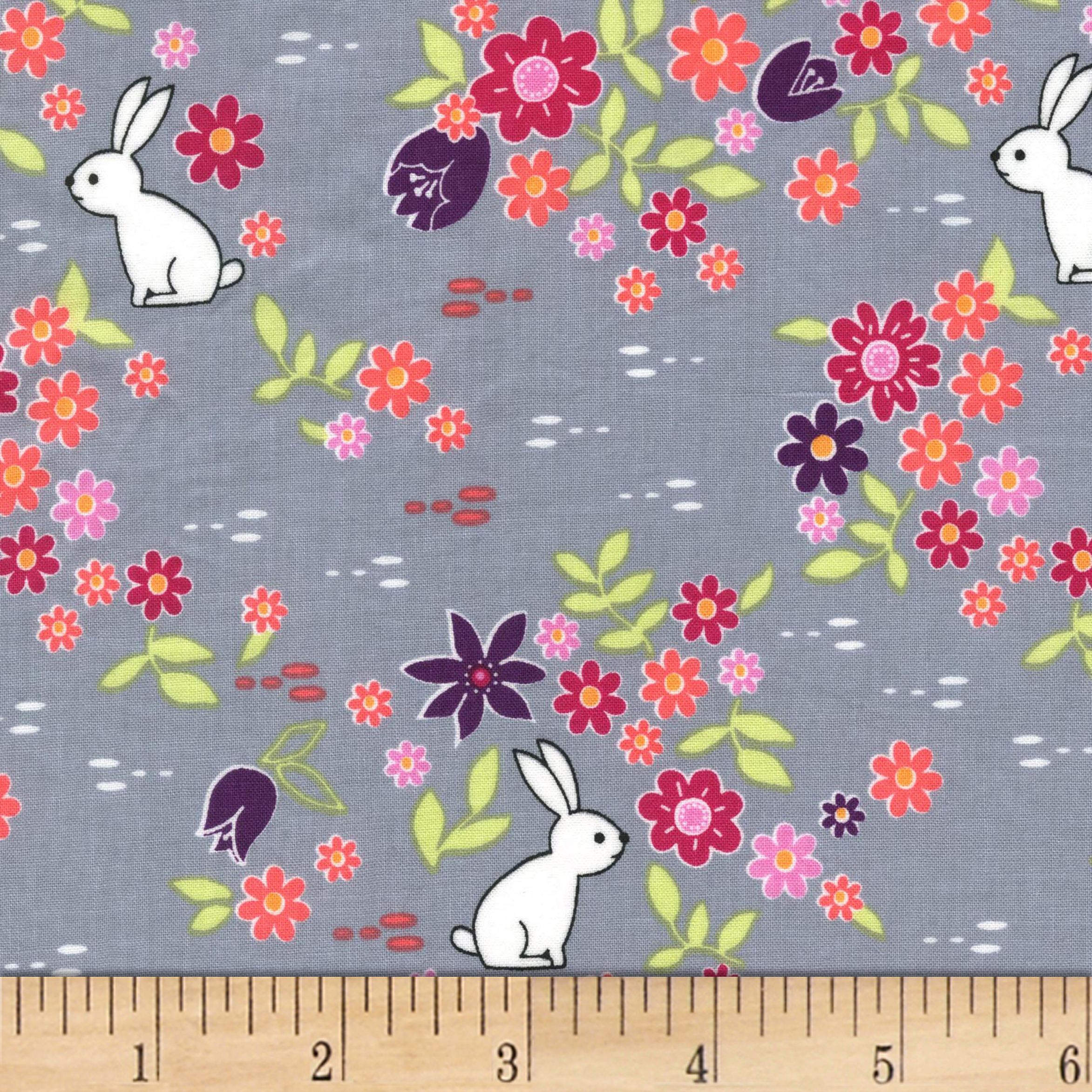 Michael Miller Front Yard Bunny Tracks Cloud Fabric by Michael Miller in USA