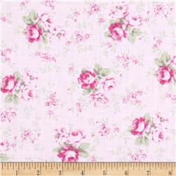 Tanya Whelan Slipper Roses Washed Roses Pink Fabric