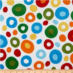 Celebrate Seuss! Minky Cuddle Wonky Dots White