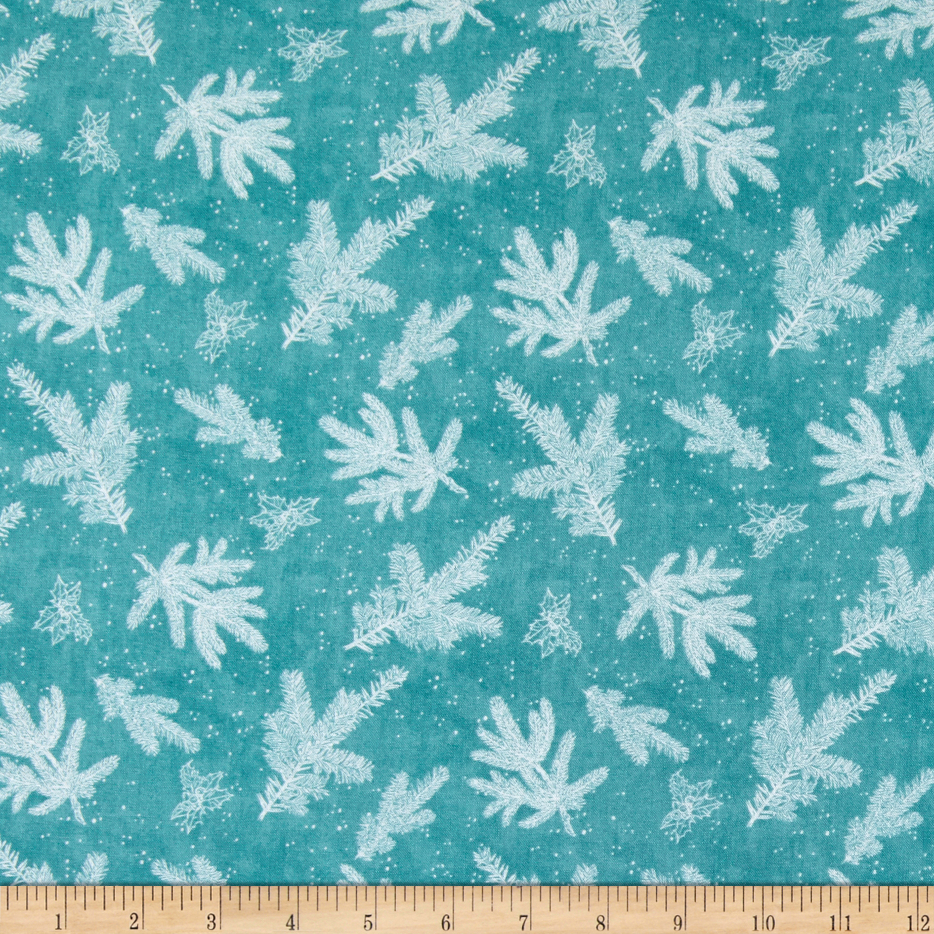 Wilmington Woodland Friends Branch Toile Teal Fabric