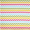 Riley Blake Cotton Jersey Knit Small Chevron Girl Multi