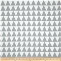 RCA Pax Triangles Blackout Drapery Fabric Grey
