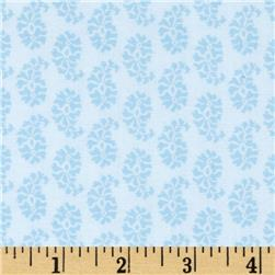 Joyful Leaf Paisley White/Blue