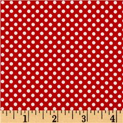 Season's Greetings Mini Dot Red