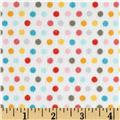 Riley Blake Girl Crazy Flannel Dots Cream