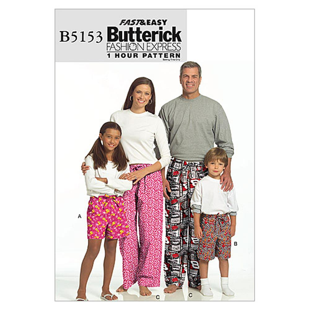 Butterick Misses'/ Men's/ Children's/ Boys'/ Girls' Shorts and