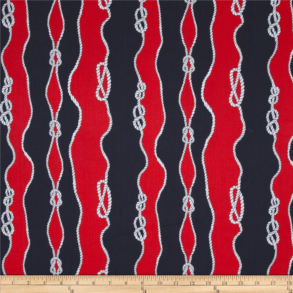 Kanvas Cabana Sailor's Knot Navy/Red