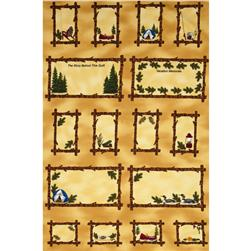 "Summer Vacation  Labels 24"" Panel Gold"