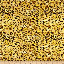 Charmeuse Satin Cheetah Skins Black/Gold