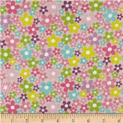 Alpine Flannel Fruit Flowers Pink
