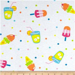 Cotton Jersey Knit Lemonade & Ice Cream Multi/White