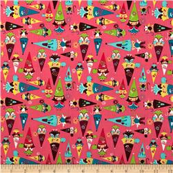 Fairyville Gnomes Pink Fabric