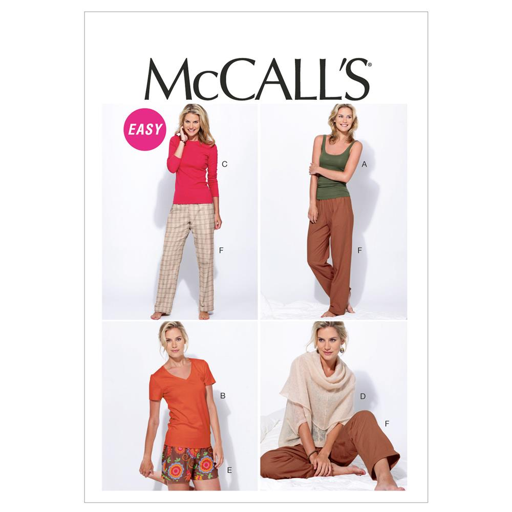 McCall's Misses' Tops, Shorts and Pants Pattern M6658 Size 0Y0