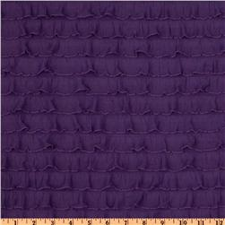 Stretch Ruffle Knit Purple