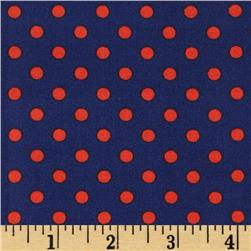 Michael Miller Dumb Dot Midnight Blue Fabric