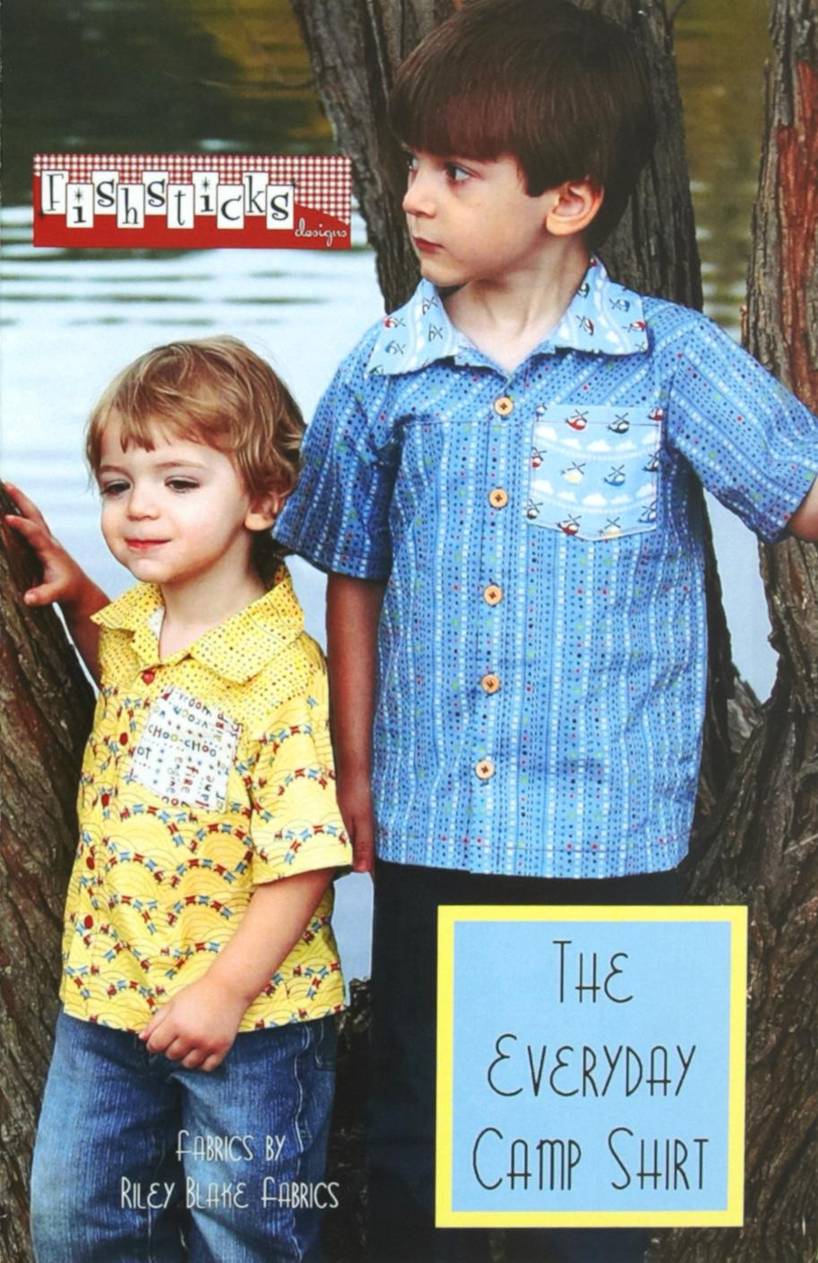 Fishsticks Designs Camp Shirt Boys Pattern