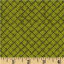 Oriental Traditions Metallic Trellis Weave Green