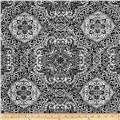 HGTV HOME Intricacy Flocked Black