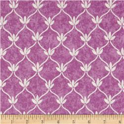 Lavender Gray Damask Light Fucshia
