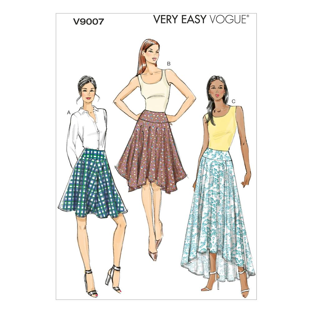 Vogue Misses' Skirt Pattern V9007 Size A50