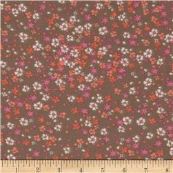 Chiffon Floral Grey/Pink/Orange