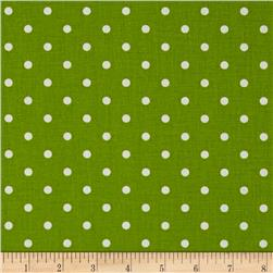 Premier Prints Mini Dot Chartreuse/White