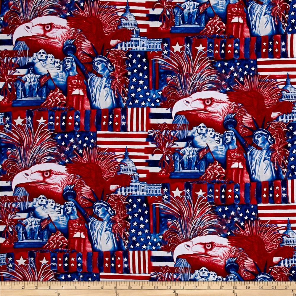 American Pride Statues Red/White/Blue Fabric