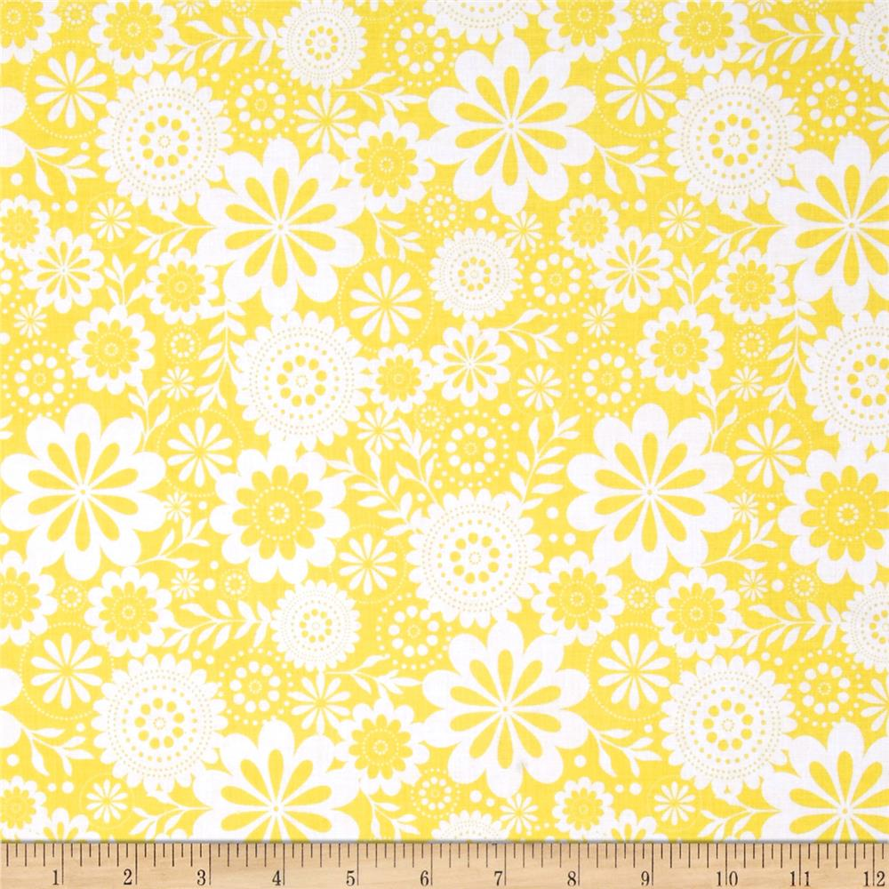 Riley Blake Evening Blooms Floral Yellow