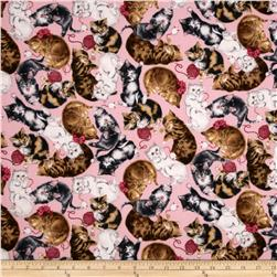 Allover Cats Petal Fabric